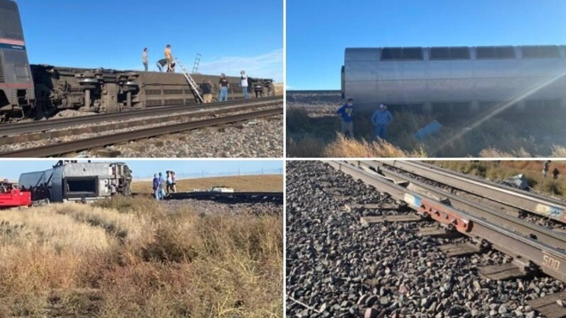 VIDEO. Un tren în care se aflau 160 de persoane a deraiat în SUA. Cel puțin trei oameni au murit