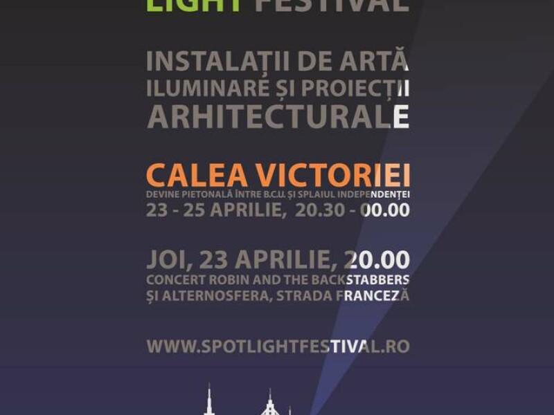 Spotlight - Festivalul International al Luminii - Calea Victoriei