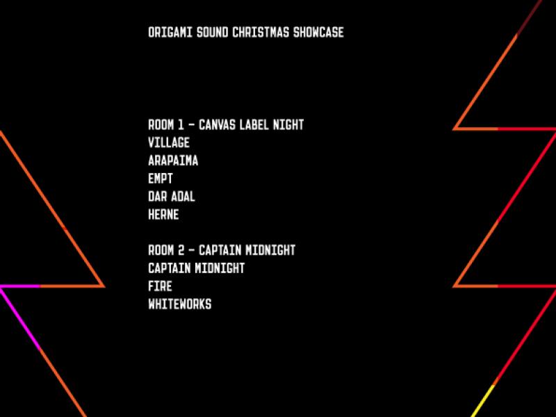 Origami Sound Christmas Showcase - Control