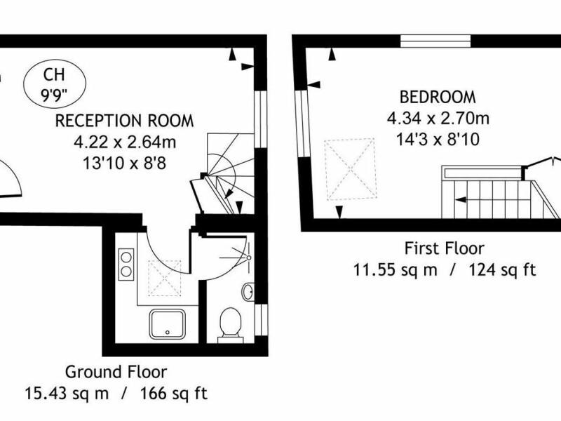 Cum arata una dintre cele mai mici case din Londra! Are doar 27 de metri patrati, dar stai sa vezi pretul - 3