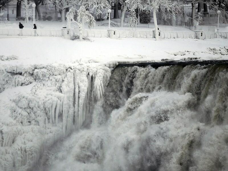 Cascada Niagara, inghet