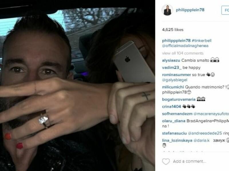 Madalina Ghenea s-a logodit cu Philipp Plein: