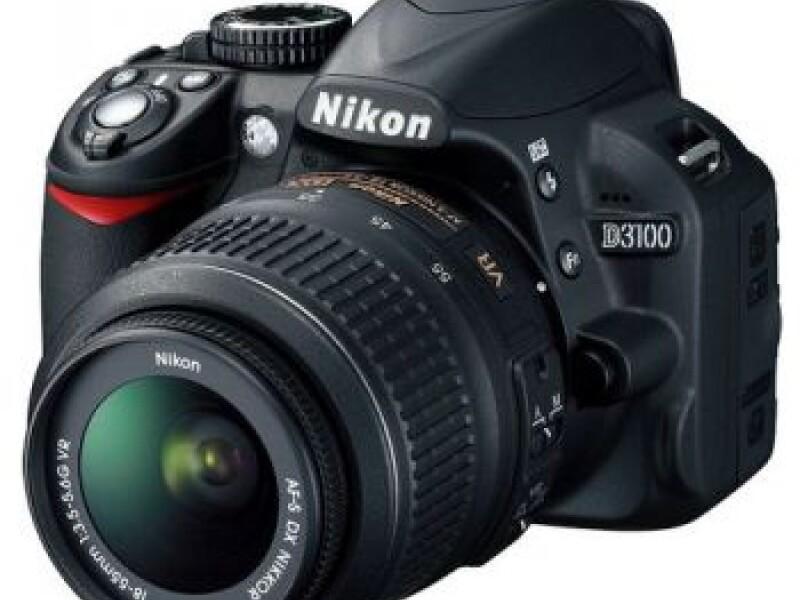Aparat foto DSLR Nikon D3100, Black + Obiectiv 18-55mm VR