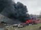 Incendiu puternic în Simeria. Zeci de mașini casate s-au făcut scrum