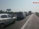 Trafic oprit pe Autostrada Soarelui din cauza dalelor de ciment