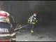 Incendiu puternic la o fostă termocentrală din Dâmbovița. Populația, avertizată prin Ro-Alert
