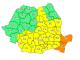 Harta cod portocaliu si galben
