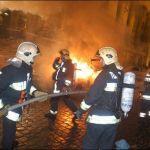 S-a dezlantuit iadul la Sibiu! Un incendiu a facut scrum 50 de chioscuri