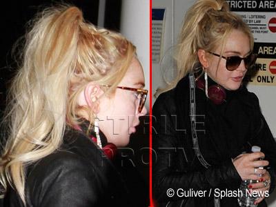 Lindsay Lohan nu si-a distrus doar viata, ci si parul. FOTO