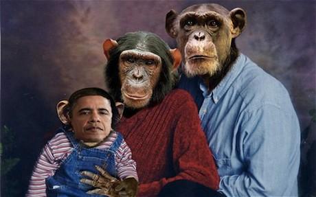 FOTO. Obama e o maimuta. Asa il vede un politician important din SUA