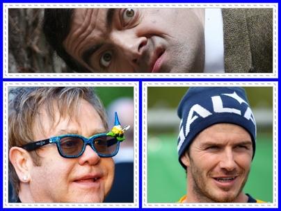 Beckham, Elton John si Mr. Bean - invitati speciali la nunta regala