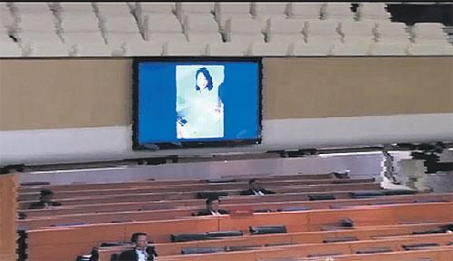 Imagini cu o femeie dezbracata au intrerupt o sedinta din Parlamentul Thailandei