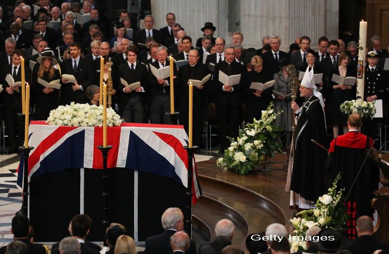 Funeralii impozante si controversate pentru Margaret Thatcher. Imagine PANORAMA de 360 de grade