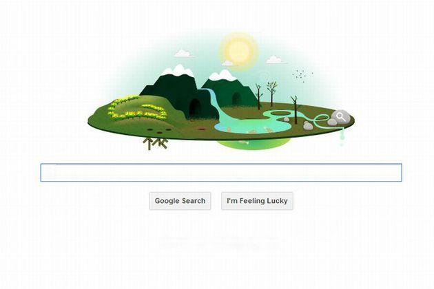 ZIUA PAMANTULUI 2013. Google sarbatoreste ZIUA PAMANTULUI 2013 cu un Doodle