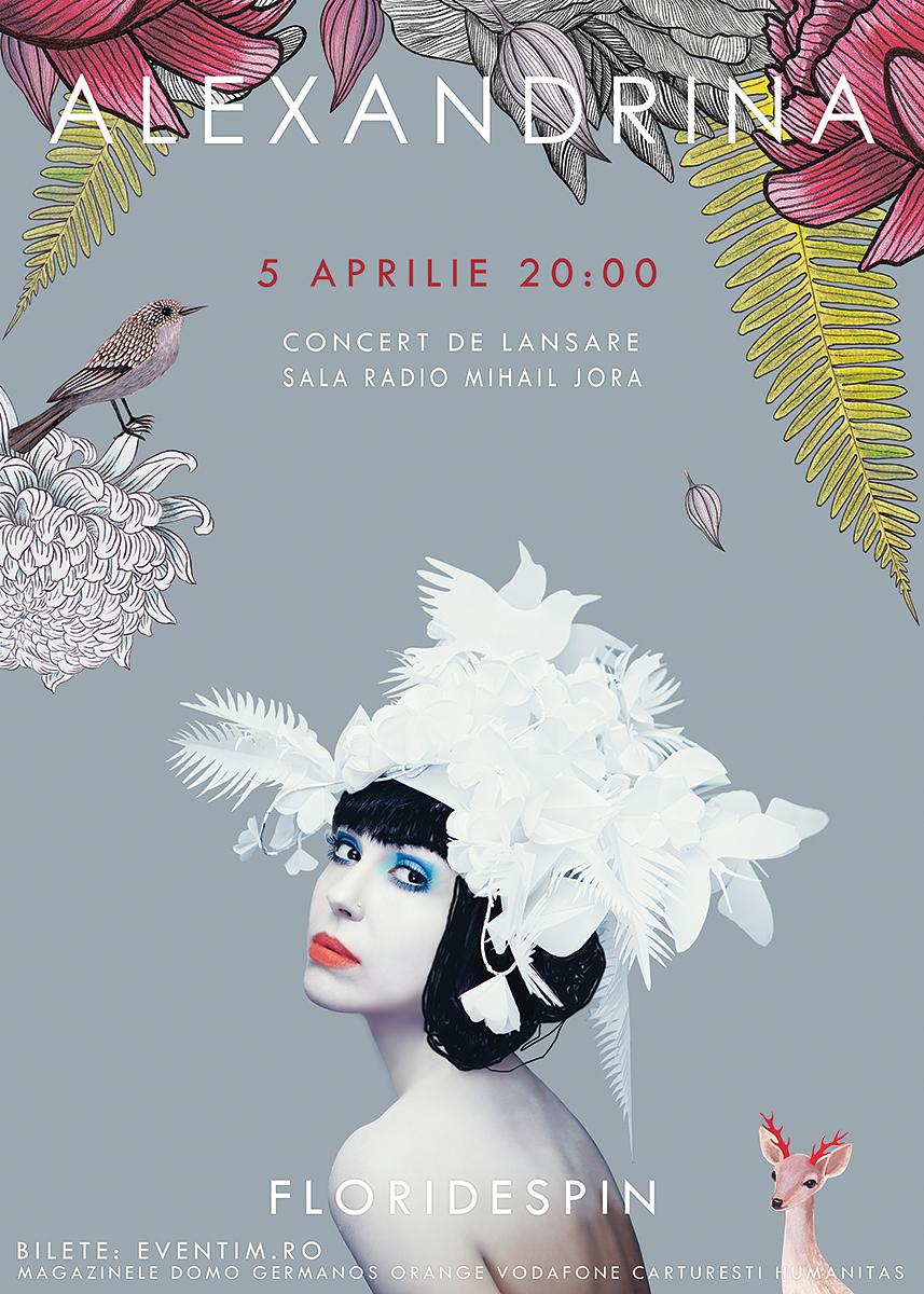 Concert Alexandrina la lansarea albumului