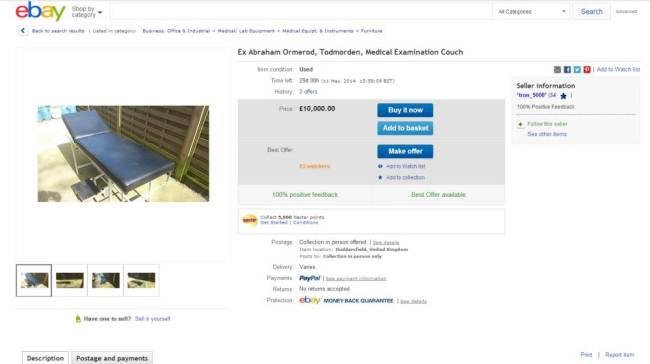 Obiectul care a ingrozit clientii de pe eBay. Anuntul a fost scos de urgenta si contul inchis