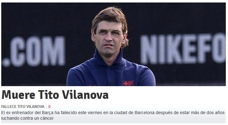 TITO VILANOVA A MURIT. Primele reactii dupa decesul care a indoliat FC Barcelona si lumea fotbalului