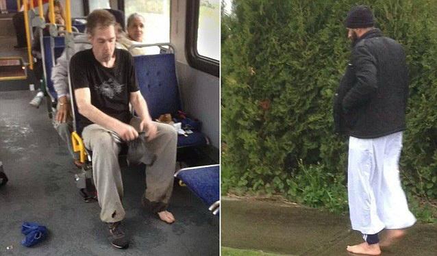 Gest impresionant in Canada. Un musulman a vazut un barbat descult si i-a dat sosetele si pantofii sai. FOTO
