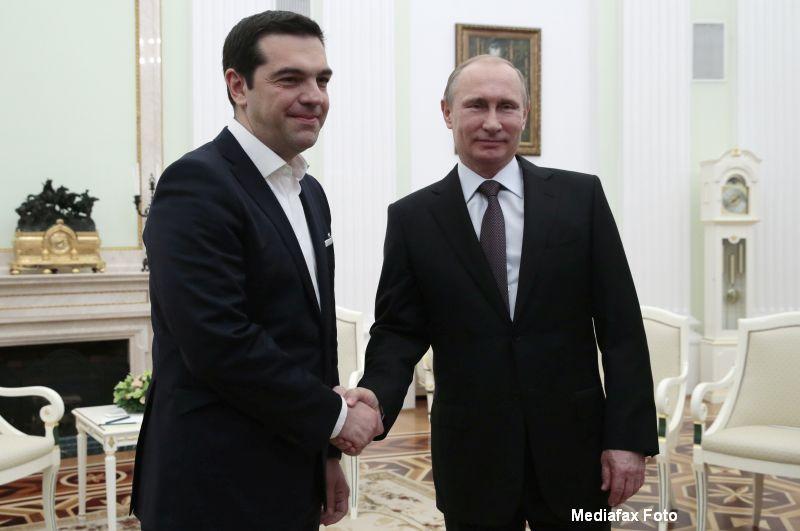 Negocierile dintre Vladimir Putin si Alexis Tsipras. Ce propuneri a facut Rusia si de ce se tem jurnalistii germani