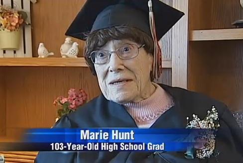 O femeie din Wisconsin a absolvit liceul la varsta de 103 ani si intentioneaza sa se inscrie la facultate