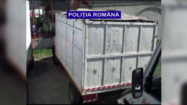 Politia a descoperit 17 camioane incarcate cu tone de carbuni furati din exploatarile miniere din Valea Jiului