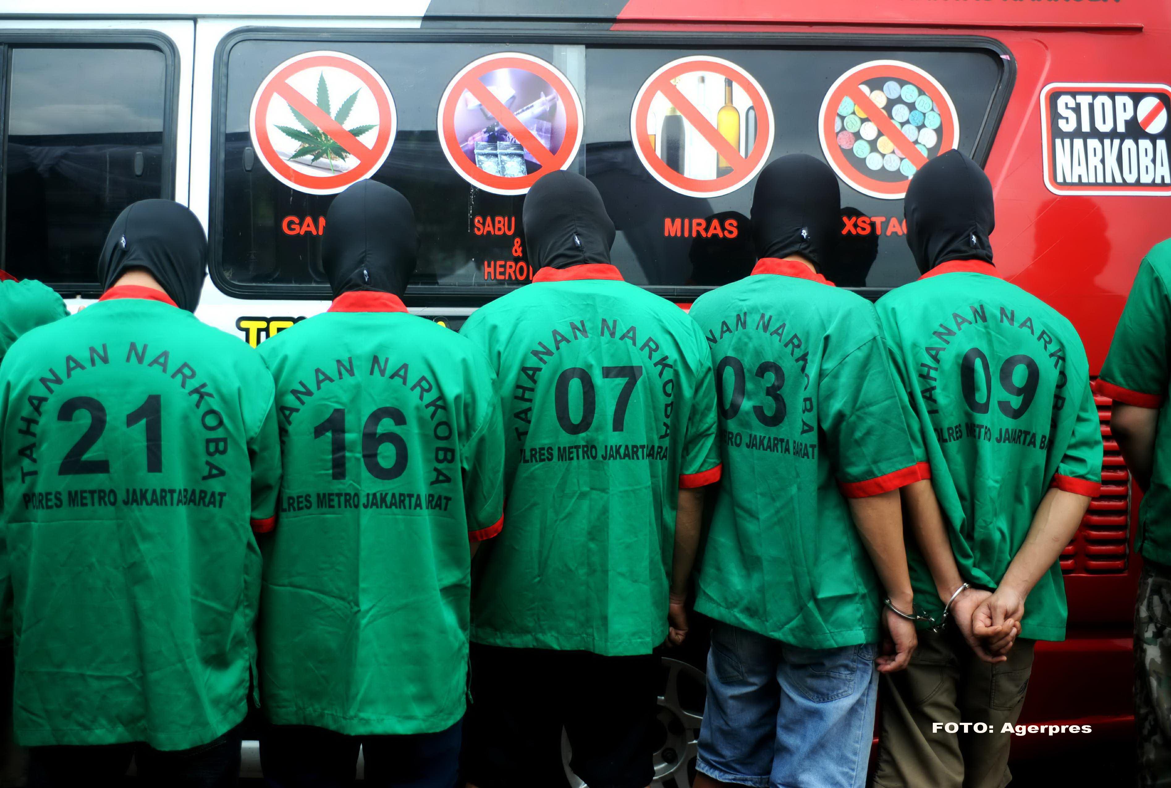 Indonezia nu are mila. Noua traficanti de droguri au fost anuntati ca vor fi executati