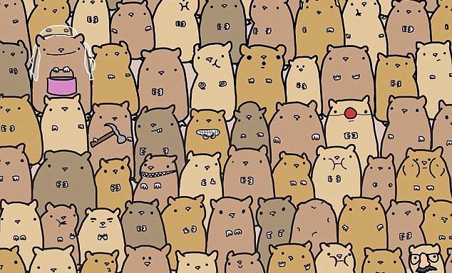 Un nou puzzle care a cucerit internautii. Poti sa gasesti cartoful intre hamsteri? FOTO