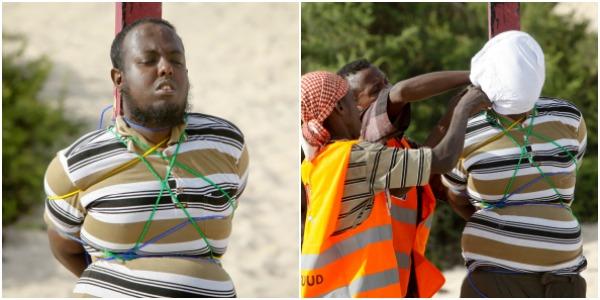 Executia unui terorist, gasit vinovat de moartea a cinci jurnalisti in Somalia: a fost legat de un stalp si impuscat