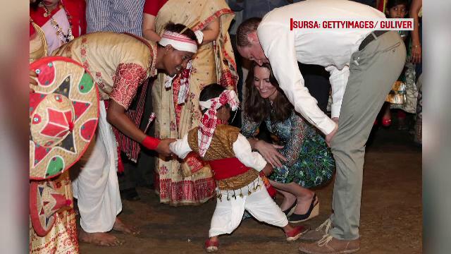 Printul William si Kate Middleton, intalnire emotionanta in vizita din India. Cum i-a cucerit un baietel de 3 ani