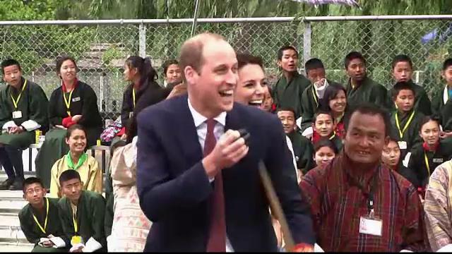Vizita regala in Bhutan. La ce activitate sportiva au participat ducele si ducesa de Cambridge