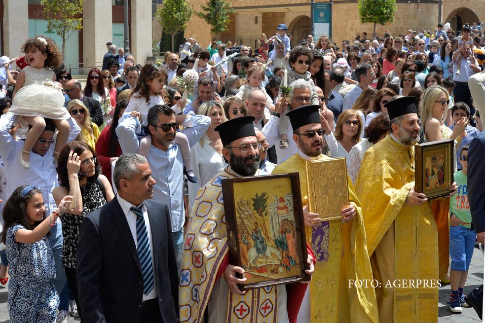 Floriile, sarbatorite de ortodocsi in Ierusalim. De ce la procesiune au participat mai putini pelerini ca de obicei