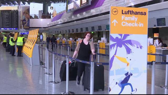 Doua zile de greva la Lufthansa. Aproximativ 1.700 de zboruri programare vor fi afectate