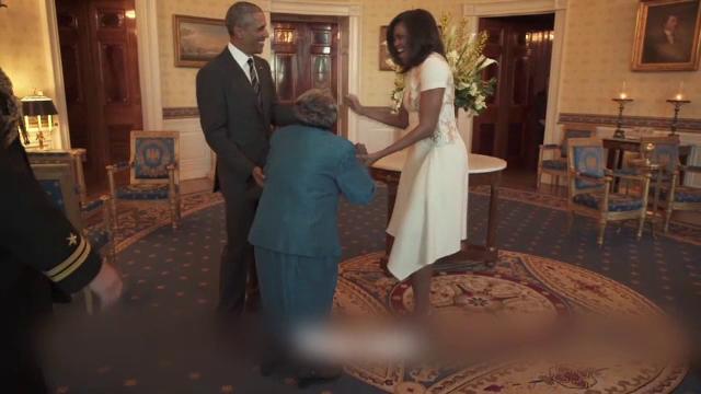 Batrana care a dansat cu Barack Obama a implinit 107 ani. Cadoul extraordinar primit de centenara