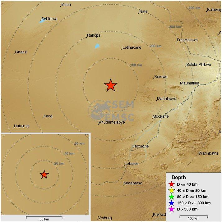 Cutremur cu magnitudinea 6,8, in Botswana. Seismul a fost resimtit in tot sudul Africii