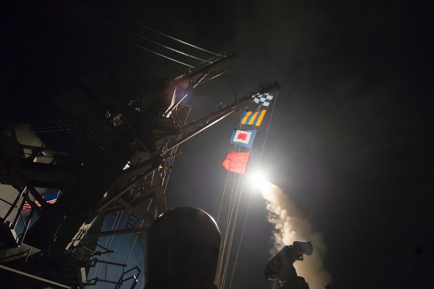 Pentagonul anunta ca rachetele de croaziera americane au distrus 20% din capacitatile aeriene ale regimului Assad