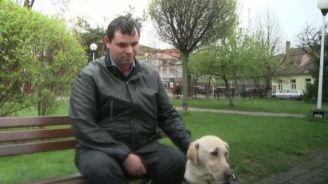 Situatie revoltatoare la Targu Frumos. Un barbat nevazator si labradorul care ii e ghid, bruscati de un sofer de autobuz
