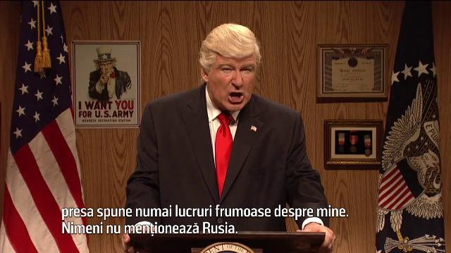Donald Trump, ironizat din nou de catre actorul Alec Baldwin, in cadrul emisiunii Saturday Night Live