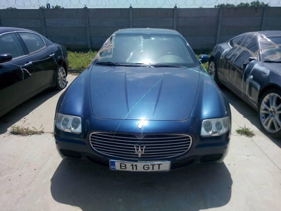 ANAF scoate la licitatie cinci masini. Preturile stabilite pentru un Maserati Quatroporte din 2005 sau un Jaguar XKR din 2008