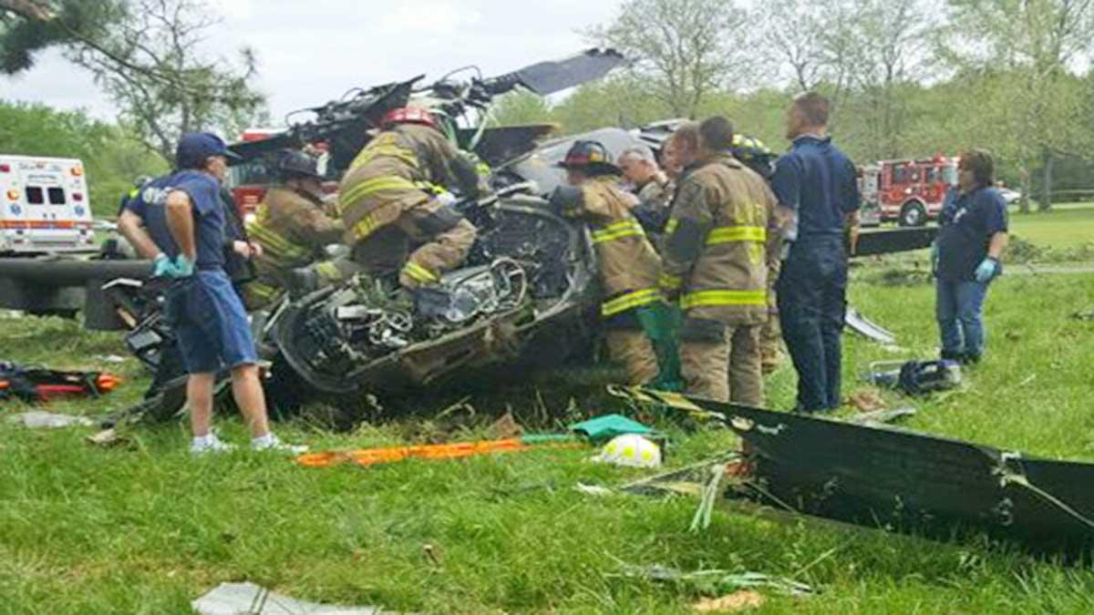 Un elicopter militar american s-a prabusit in Maryland. O persoana a murit, doua sunt in stare grava. VIDEO