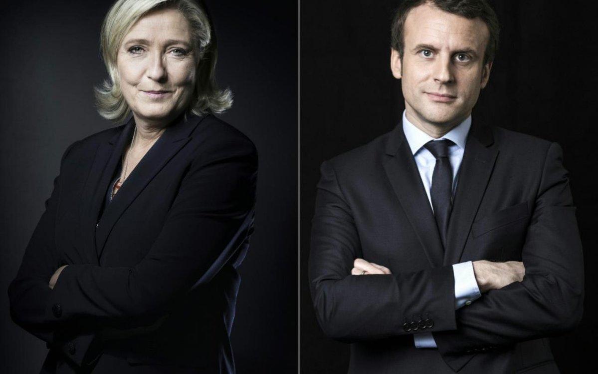 Alegeri prezidentiale in Franta. Urnele s-au inchis. Proiectii: Emmanuel Macron si Marine Le Pen se lupta in turul II