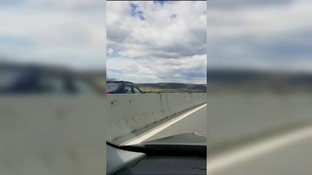 Amenda primită de șoferul filmat gonind pe contrasens, la Mioveni