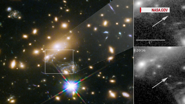 Telescopul Hubble a fotografiat o stea uriașă care se afla la o distanţă record de Pământ