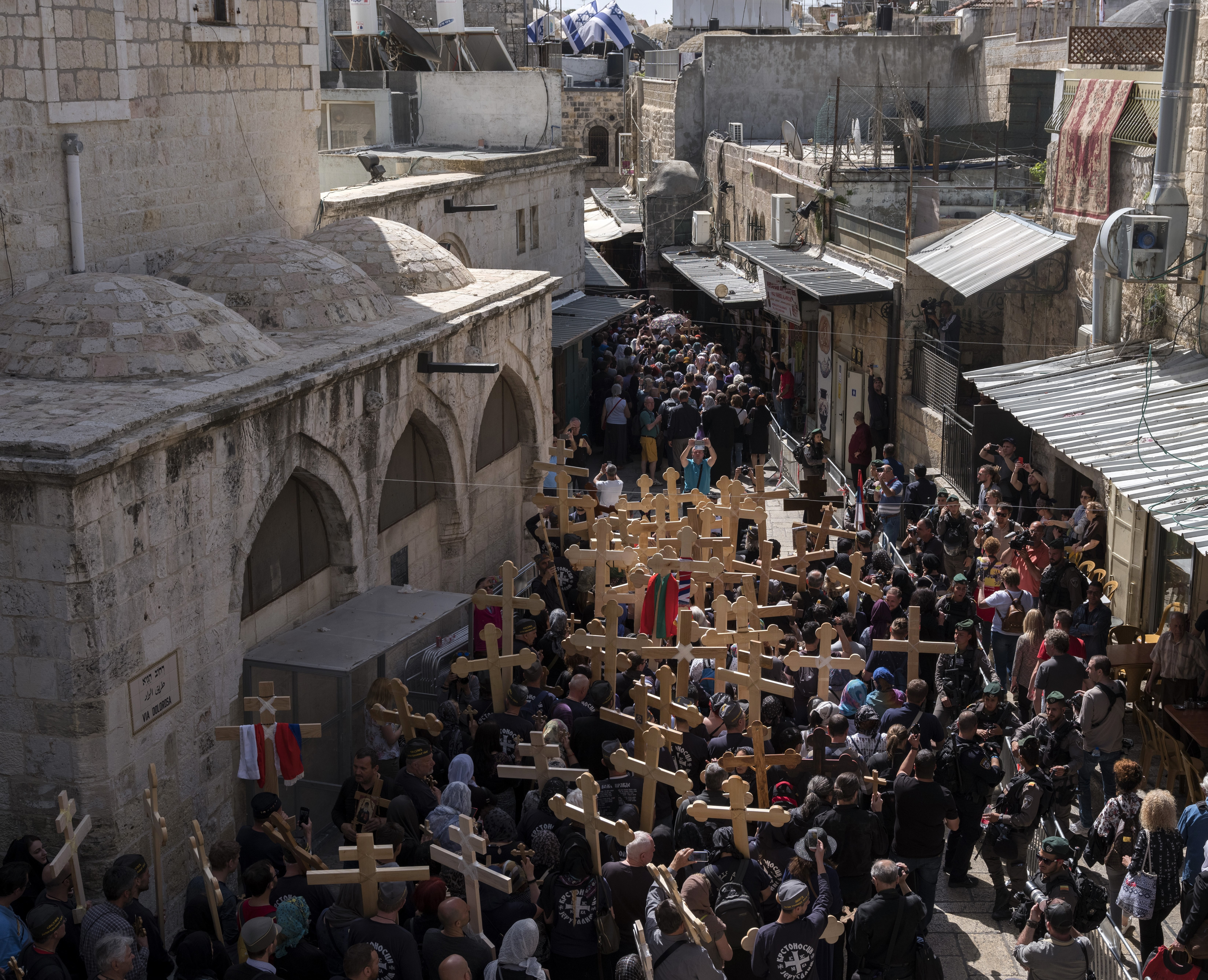 Procesiune în Ierusalim, înainte de Paște