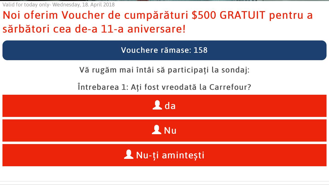 Voucher de 500 $ de la Carrefour sau Lidl. Frauda din spatele acestui mesaj pe WhatsApp