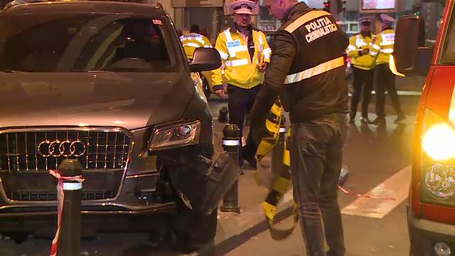 Accident bizar în București. Biciclist, lovit în timp ce aștepta să traverseze strada
