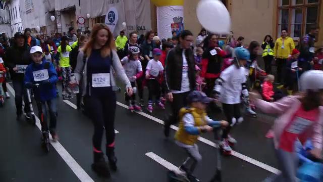 Mii de oameni au alergat pe ploaie, la Timișoara, în scop caritabil