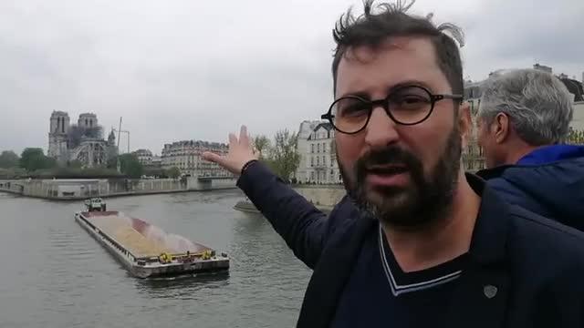 "Incendiul de la Notre Dame. Cosmin Savu, de la locul dezastrului: ""E un moment greu"""