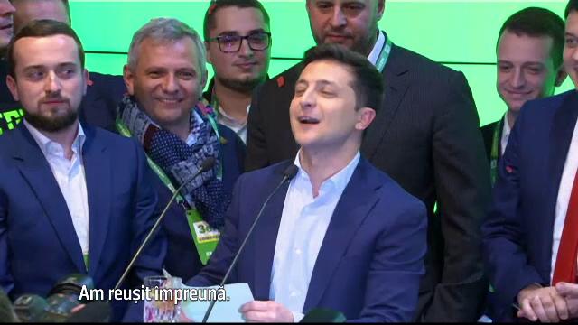 Comicul Volodimir Zelenski, ales preşedinte al Ucrainei. Care va fi primul său decret