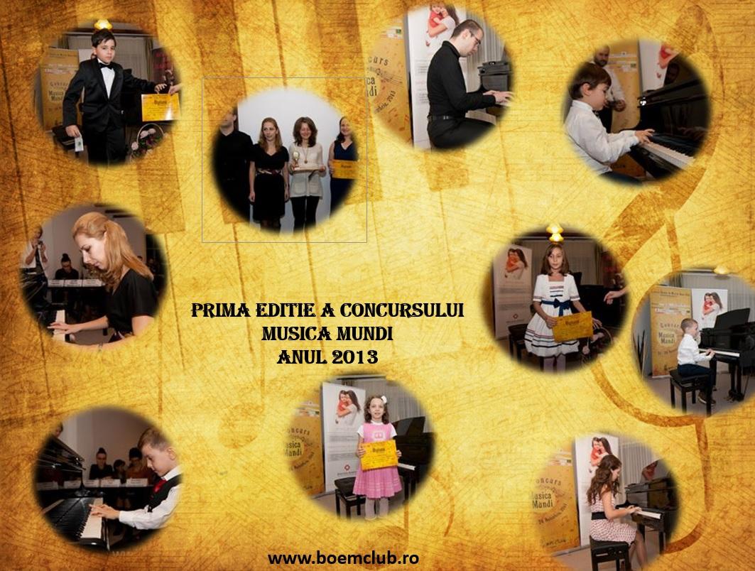 Concurs național de pian muzică Mundi, în perioada 8 - 9 iunie