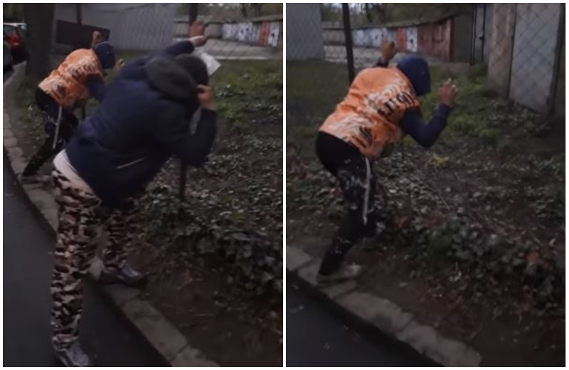 """Noi imagini cu victime ale drogului """"zombie"""", la Arad: """"Ce-ai fumat, mă?"""". VIDEO"""